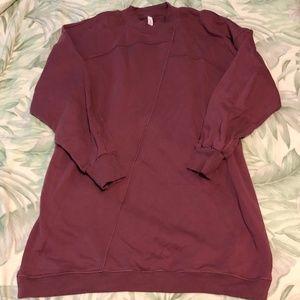 Lululemon Broken Beats Sweater Dress Plumful